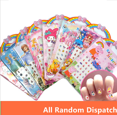 Mix Random Children Nail Art Stickers Decals Designs For Kids Girls Fingers