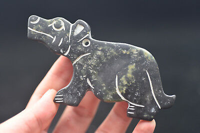 Ancient Chinese hongshan culture old jade carved amulet L122