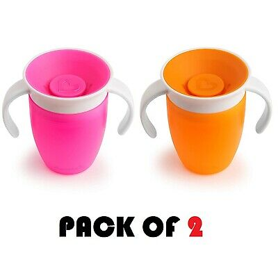 Munchkin Miracle 360 Degree Trainer Cup Toddler Child No Spills - Pack Of 2