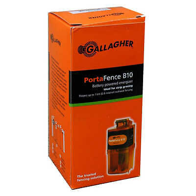 Gallagher PortaFence G36310 B10 Battery/Solar Powered Energiser Electric Fencing