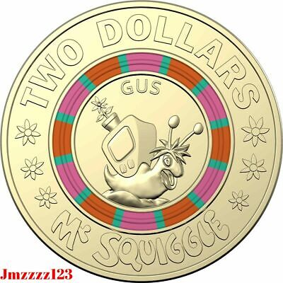1x $2 Dollars Mr Squiggle Coins 2019 Week 3 Coins! Australian Limited Edition