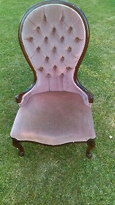 Nursing Chair reproduction with excellent velour fabric