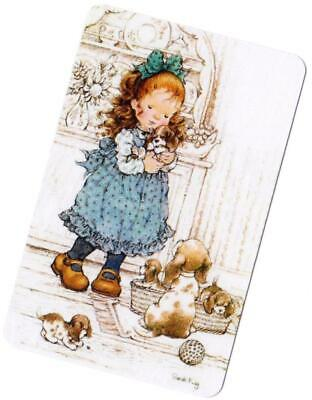 Swap Card ~ Blank Back ~  Cute Girl  Puppy Dogs  Sarah Kay Lee  Etc