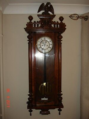 GUSTAV BECKER* Antique Wall Clock Regulator 2 weight Vienna