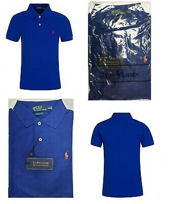 Mens Ralph Lauren Polo Shirt Rugby Royal Blue Custom Fit Casual Polo Shirt S-XXL