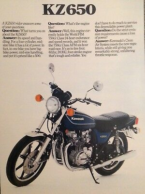 KAWASAKI KZ650 USA 🇺🇸 / Z650 sales brochure - £19 99