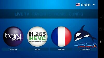 ORCA IPTV + VOD BEIN SPORTS FHD 4K Smart phoneHD Smarttv ANDROID box 12 mois