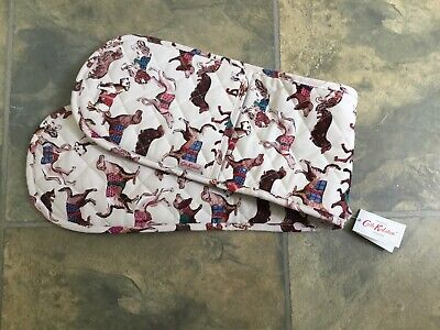 Bnwt Cath Kidston Sketchbook Dogs Double Oven Gloves