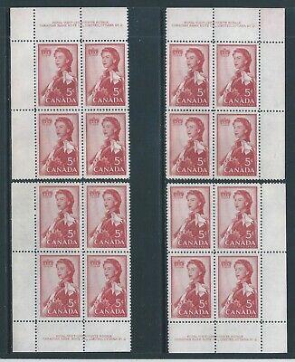 Canada #386 PL BL #2 Royal Visit Matched Set Plate Block MNH