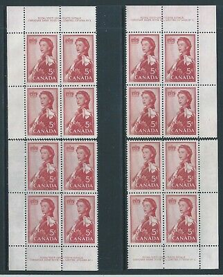 Canada #386 PL BL #1 Royal Visit Matched Set Plate Block MNH