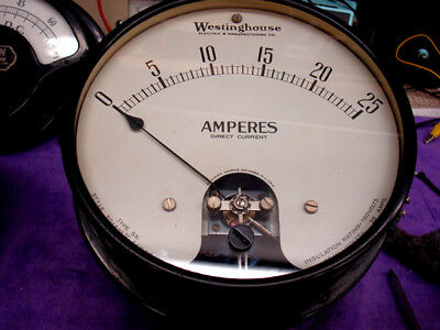 Westinghouse Ammeter - Large - Heavy - EXCELLENT  CONDITION