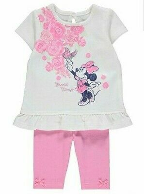 DISNEY MINNIE MOUSE GIRLS TOP and LEGGING Outfit BNWT ALL AGES SET