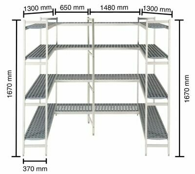 Shelf for Cold Rooms, 1300+1480+1300+650mm