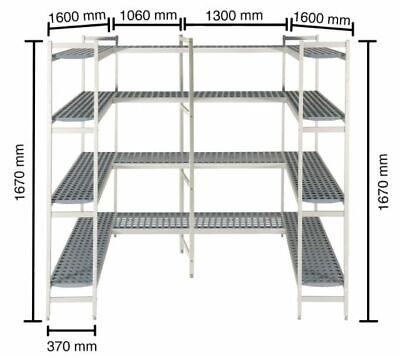 Shelf for Cold Rooms, 1600+1060+1300+1600 MM