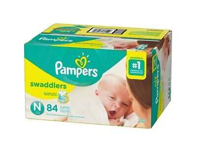 Pampers Swaddlers Diapers Super Pack, Size N - 84 count Baby Diapers Pampers