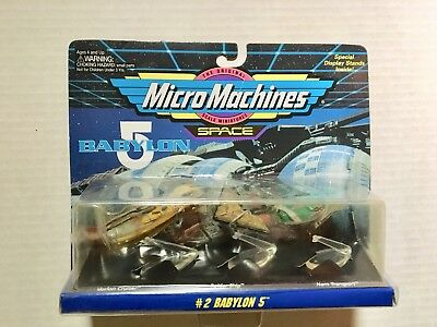 MICROMACHINES BABYLON 5 #2 Narn Transport Vorlon Cruiser Raider Ship B5