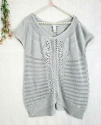 79fdc665d1 Soft Surroundings Sz 2X 3X Top Tunic sweater light gray knit blouse stretch
