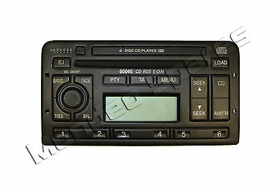 Ford 6006 / 6006E Rds Eon 6 Cd Player Radio Mondeo Cougar Puma Fiesta Focus Code