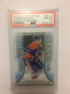 2016-17 Connor Mcdavid Tim Hortons Clear Cut Phenoms Cc- 6  Psa 10