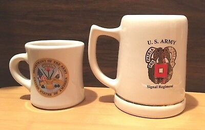 Department of the Army Cup & US Army Signal Regiment Mug Stein