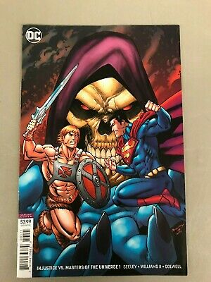 INJUSTICE VS THE MASTERS OF THE UNIVERSE 1 VARIANT Seeley Williams HeMan DC HOT*