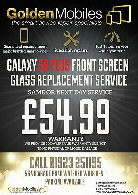 Samsung Galaxy S8 Plus Cracked Front Lcd Screen Glass Replacement Repair Service