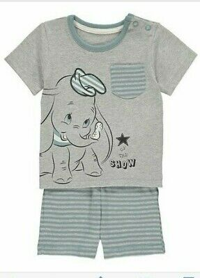 DISNEY DUMBO Grey BOYS T-SHIRT and SHORTS SET BNWT ALL AGES OUTFIT