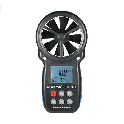 HoldPeak HP-866B Mini LCD Digital Anemometer thermometer Wind Speed Air Velocity