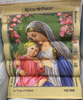 Mary Madonna Child Royal Paris Tapestry Embroidery Anchor DMC Sew Canvas Easter