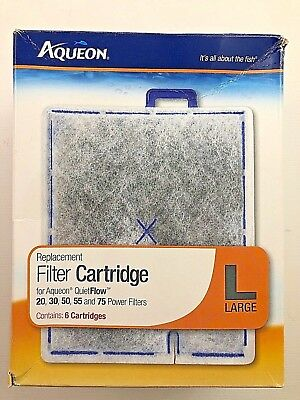 Aqueon Water Filter Replacement Cartridge Quietflow Fish Tank Aquarium Filter L