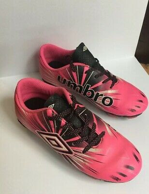 6c616905a KIDS YOUTH GIRLS Cleats UMBRO Pink White Black Soccer Shoes Size 13K ...