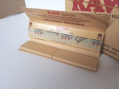 Raw papers King size Slim. Connoisseur Brown unbleached papers with roach