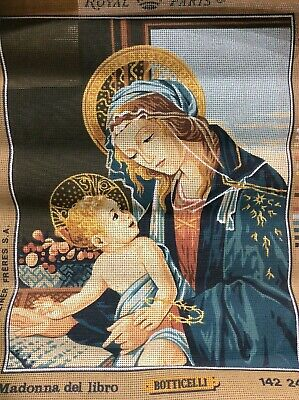 Botticelli Madonna del libro Royal Paris Tapestry Embroidery Anchor DMC Canvas