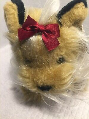 Animal Alley Yorkshire Terrier Dog Plush Long Hair Red Bow 11