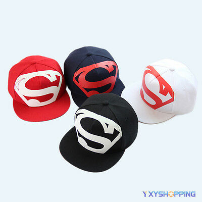e9d39c171 MENS SNAPBACK ADJUSTABLE Baseball Cap Superman Hip-hop Dance Stretch ...