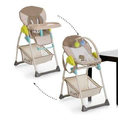 Hauck Sit n Relax 2 IN1 Highchair Baby Feeding Highchair+Bouncer Multi Dots Sand