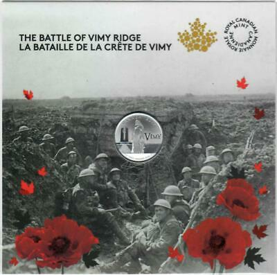 2017 Canada $3.00- 99.99% Pure silver coin The Battle of Vimy Ridge, Sealed