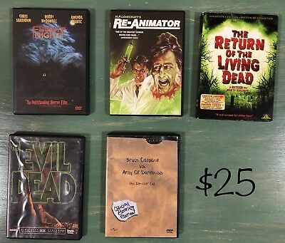 Wholesale Lot Of 5 Horror Movies In Very Good To Like New Condition.