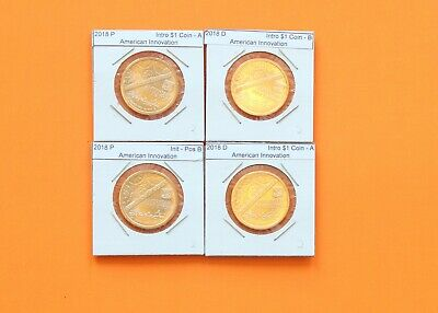 #2s 2018 PD Pos A&B 4 Coin $1 American Innovation Set - Introductory Coin