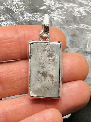 Crystal Nation Gibeon Sterling Silver Meteorite Pendant ~( 8gm / 35mm )(CN2311)