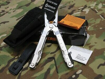 New Military Gerber Mp600 Needle Nose Pliers Multi-Tool Stainless Blk Sheath