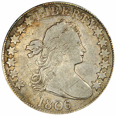 1806/5 Draped Bust Half Dollar Overdate  ~  Nice F/Vf ~ Priced Right!
