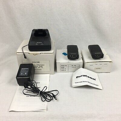 2 DuraComm TP150 Pagers & 5 Hour Charger CG-4 for Tone & Voice Monitor Pagers