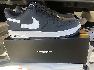 0c64ae15f61f08 Supreme x Comme Des Garcons x Nike Air Force 1 Low UK 9.5   US 10.5
