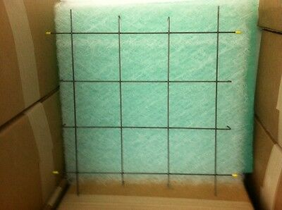 """20"""" x 20"""" Spray Booth Filter Holder Snap In Grid Grate Metal Rubber Tip (20)"""