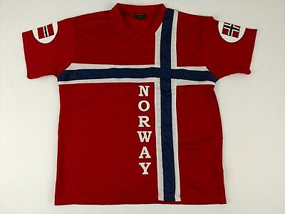 buy online ee4ef cd2dc NORWAY NATIONAL TEAM NORD SUVENIR Football Soccer Jersey Red ...