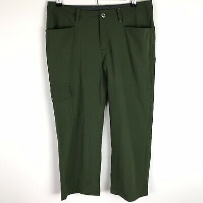 Patagonia Pants Women's Size 8 Olive Green Crops Capris Hiking Outdoor Casual