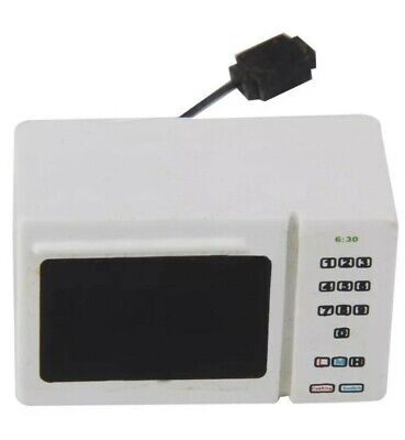 Miniature dolls house accessories White Microwave Oven with cord 1:12th scale