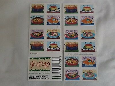 2017 #5192-5197 Forever Delicioso - Booklet of 20 Mint mexican food postage