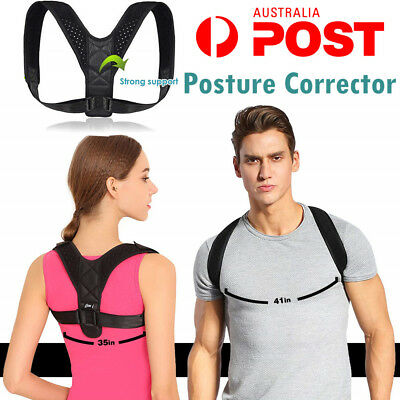 Women/Men Adjustable Therapy Posture Corrector Shoulder Back Support Brace Belt